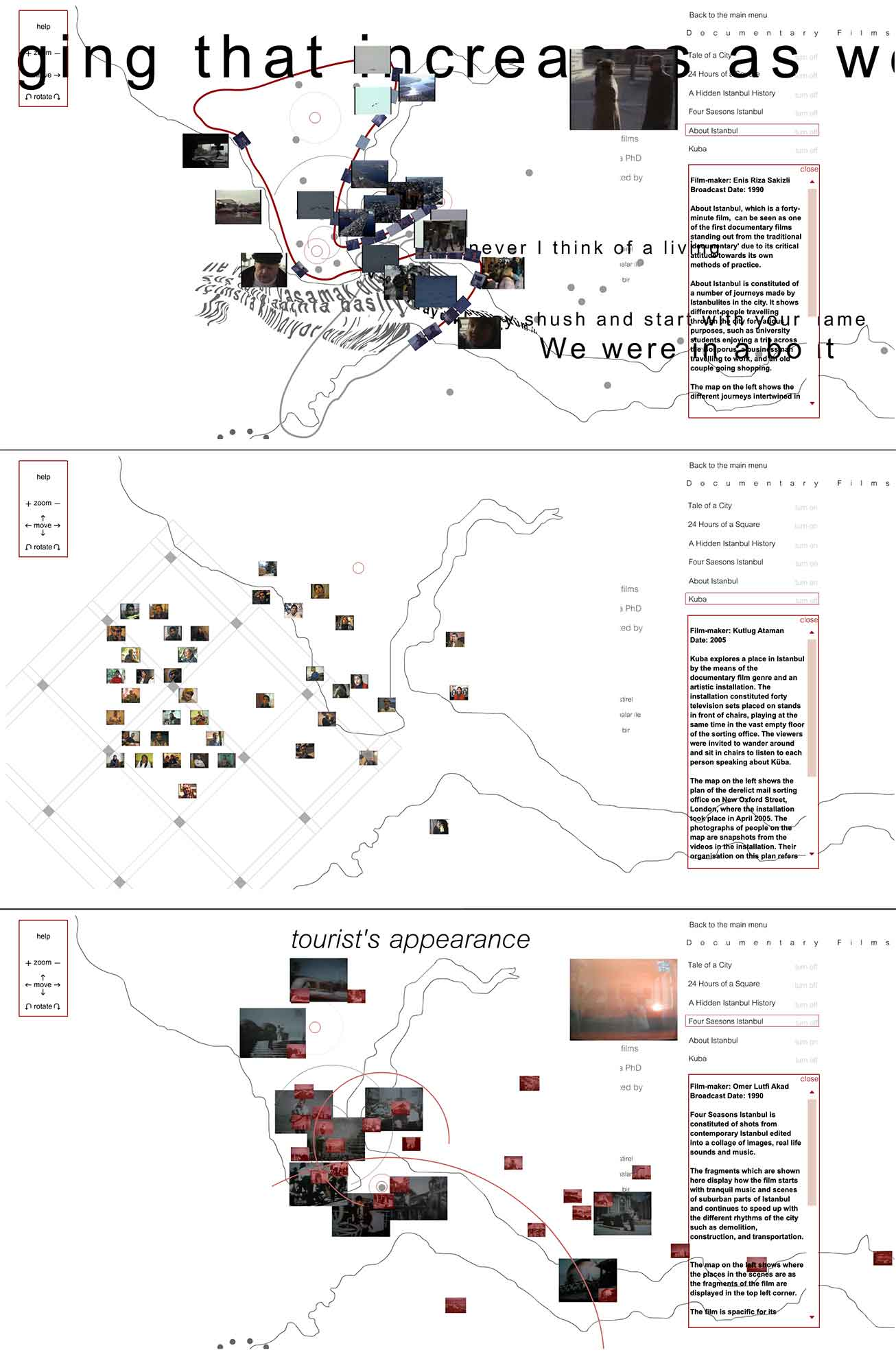 Mapping documentary films