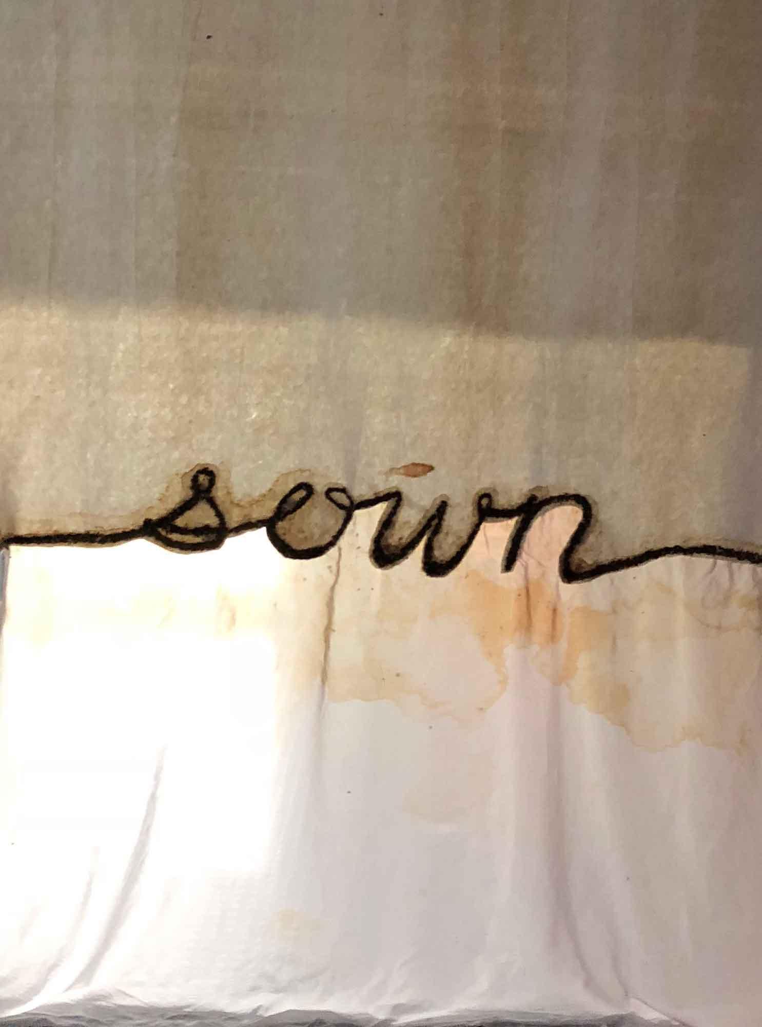 sown (hanging)