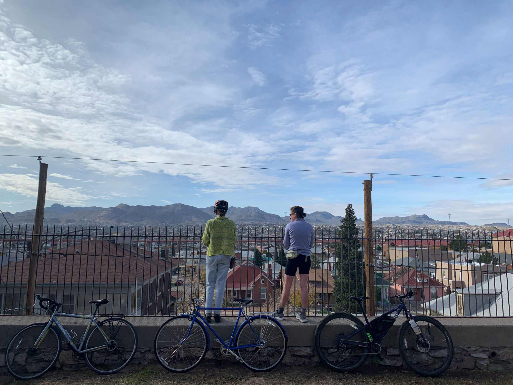 Bike ride to Franklin Mountains, El Paso, TX Photograph: Hannah Ennis