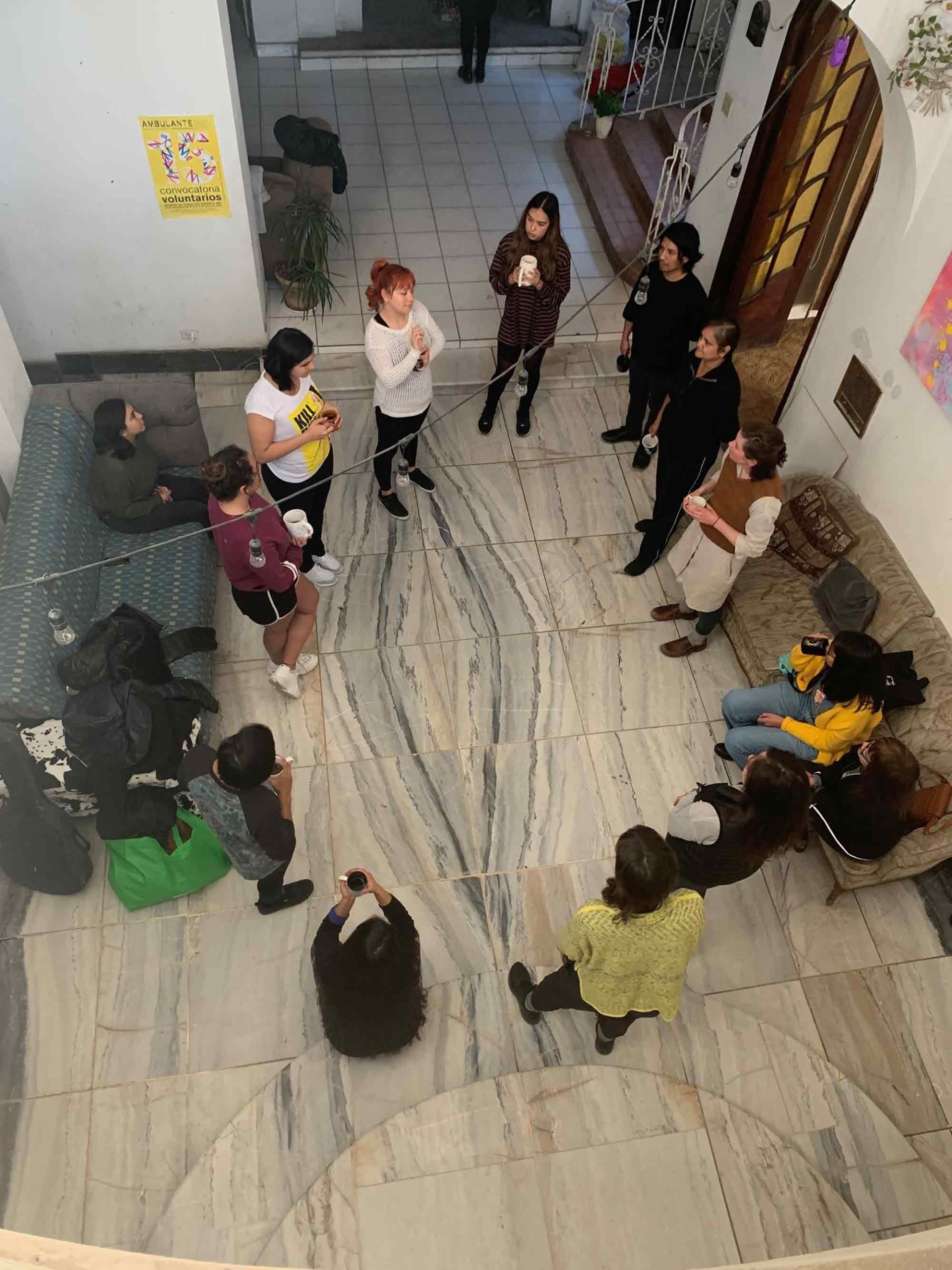Hungry Mothers workshop at casa centro 16 (CX16) in Ciudad Juárez, Mexico. Photograph: Hannah Ennis