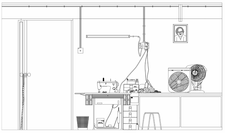 03-FLATS, Drawings, Lilian Chee, 2014.