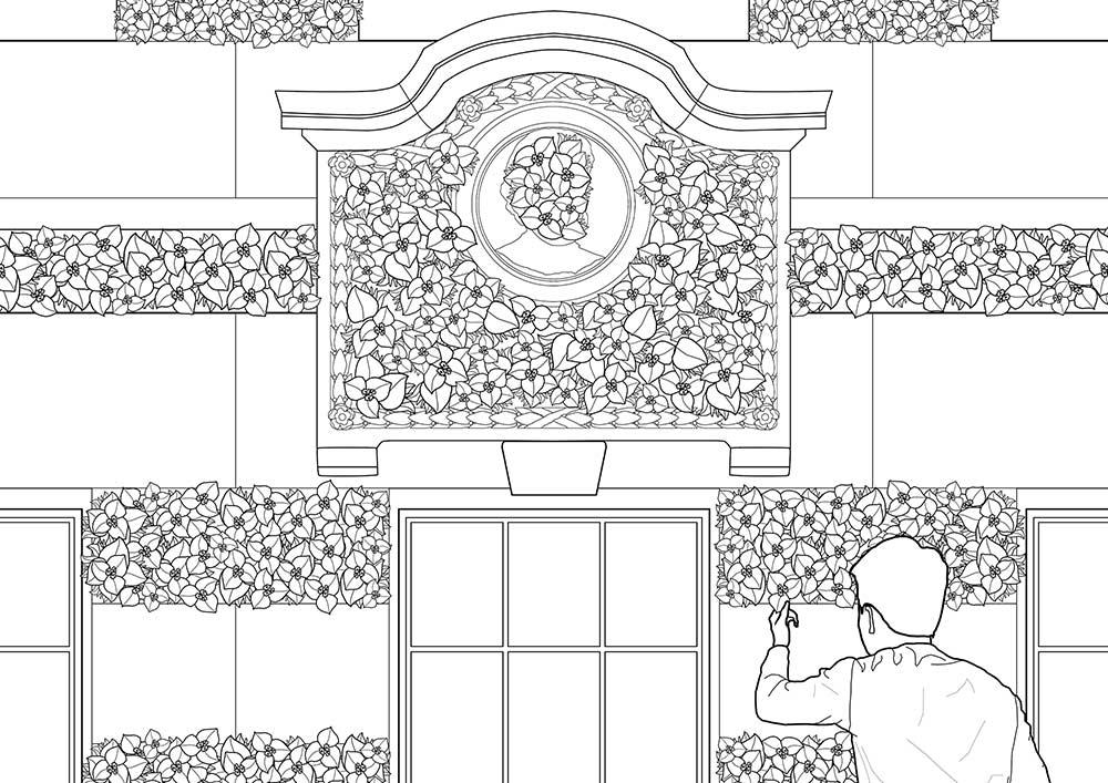 Sean Cham, Washing White, (2021) – illustrative intervention to Livingstone Cottage.